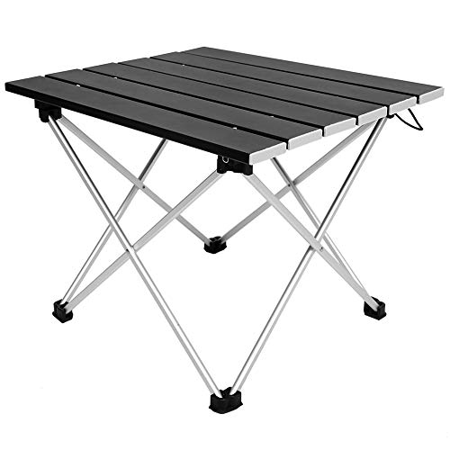 Mesa Plegable, aleación de Aluminio Made 34.5x39.5cm Carga de Carga Picnic Party Dining para Picnic al Aire Libre