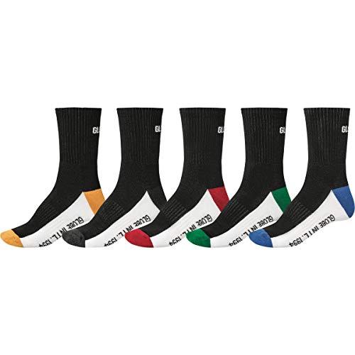 Globe Unisex-Kinder Prime Crew Sock 5 Pack, schwarz, 7-11