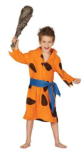 Guirca–Kostüm Flintstones, für Kinder von 5–6Jahren, Orange (83351)
