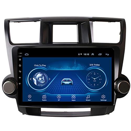 CARACHOME Navegación GPS con Pantalla táctil Completa HD de 10.1 '' para Toyota Highlander 2009-2014 Sistema estéreo Soporte Mirror Link Bluetooth Manos Libres Control del Volante,WiFi 1+16g