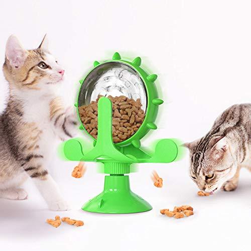 JR. Meet Giochi Gatto,Distributore Cibo Gatti Puzzle Giocattol Giochi per Gatti in Casa Giocattolo per Gatti Multifunzione Gatto Accessori (Verde)