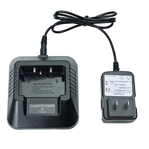 Baofeng Battery Charger 100v-240v with US Adapter +1USB Charger Cable for DM-5R UV-5R UV-5RA UV-5RE BF-F8HP UV-5X3 UV-R3 V2+ Plus Series Two-Way Radio Walkie Talkie