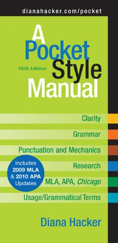 A Pocket Style Manual Fifth Edition