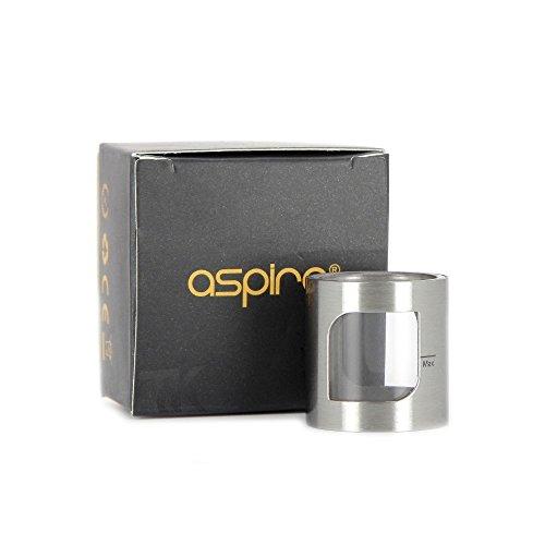 ASPIRE - Pack de 2 tubos de vidrio de reemplazo (Color: Acero inoxidable) para claromizador PockeX AIO versión 2 ml (sin nicotina y sin tabaco)