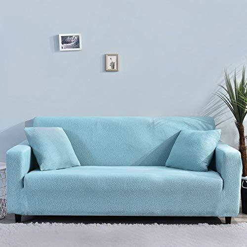 B/H Elastano elástico Funda de sofá,Funda de sofá elástica con Todo Incluido, Funda de sofá Impermeable-Azul_190-230cm,elástico Tejido Protector por sofá Funda