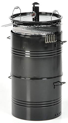 taddei Barbecue Affumicatore a Carbone Carbonella Barrel Nero