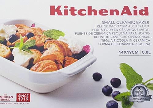 KitchenAid Pirofila Teglia Piccola in Ceramica 5x14x19cm | 0.8L
