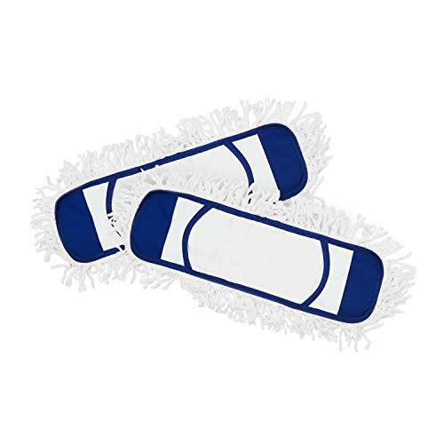 Eyliden 2 Pack Mop Pads (Fit Eyliden Mop: PB-06-02/PB-06-01) Wet Dry Dust Mop Pads Microfiber Hardwood Floor Mop Pads Replacement Refills for Wet or Dry Floor Cleaning (Blue)