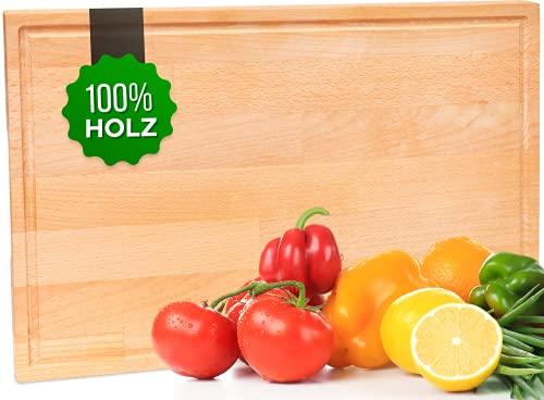 Tagliere in Legno 100% Naturale - Tagliere da Cucina Professionale - Antibatterico - Tagliere Grande - Fabbricato in Europa - 43x28x2cm
