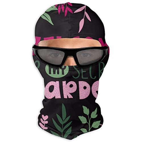 N/Een volledig gezichtsmasker WELCOME aan mijn geheime tuin kap zonnebrandcrème masker dubbele laag koud voor mannen en vrouwen