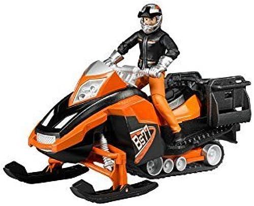 edición limitada en caliente Bruder 63101 Snowmobile With With With Driver and Accessories Vehicle by Bruder  tienda