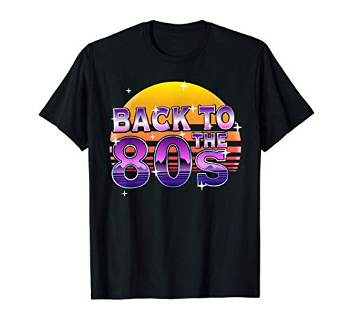 Back to the 80s Outrun Sunset T-shirt. Choice of colours, men and ladies sizes, S to 3XL