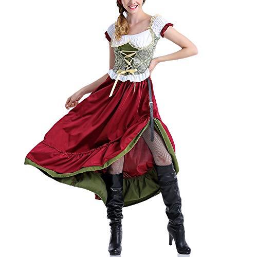 Urisgo - Vestido largo para mujer, color rojo
