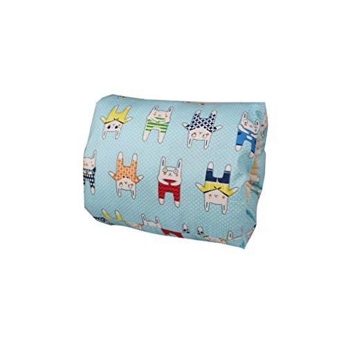 Almohada para bebé Almohada de alimentación para Brazos Almohada para Brazo de Lactancia para Lactancia Soporte para bebé (Oso Azul)