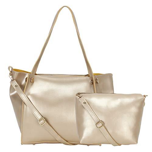 Don Cavalli Women's PU Leather Handbag (GOLD)