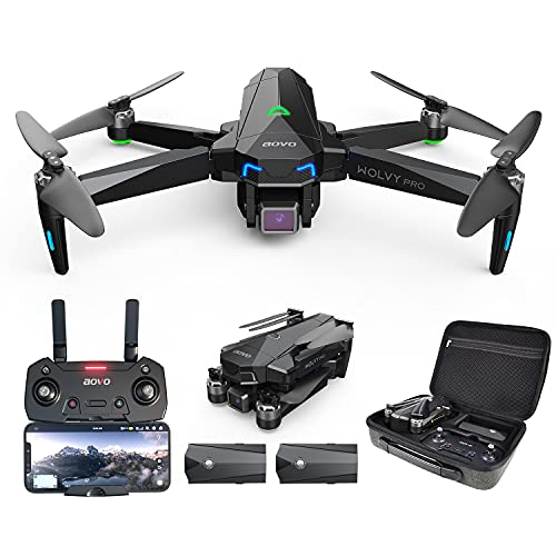 aovo PRO66 Drone with Camera for Adults 4K UHD, 60 Minutes Flight Time Quadcopter with Brushless Motor, GPS Return Home, Follow Me Drones for Pro Includes 1 Extra Battery
