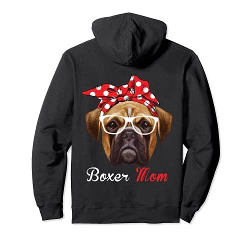 Funny Boxer Mom para los amantes de los perros boxeador Sudadera con Capucha