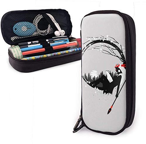 Federmäppchen, großes Fassungsvermögen, großes Fassungsvermögen, Bleistiftbeutel, Organizer, praktischer Taschenhalter mit Reißverschluss – Prinzessin Mononoke-Kreis