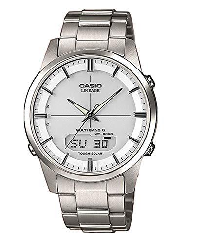 Casio Herrenarmbanduhr mit Solar und Funk und Titanarmband