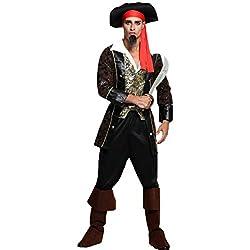 Ofertas Tienda de maquillaje: Pirata adulto disfraces de halloween disfraz de mascarada, varios tipos, siempre hay uno para ti. No contiene armas. Imagen colorida y vívida, conjunto unisex de disfraces de Halloween. Aspecto realista, súper duradero. Permitirle pasar un inolvidabl...