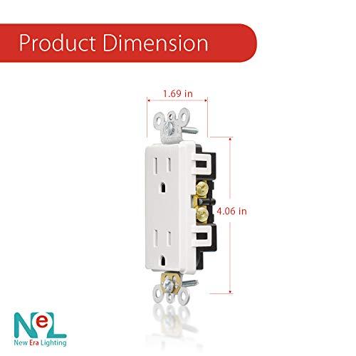 [20 Pack] 15 Amp, Tamper Resistant, 120 Volt, Child-Proof Outlets, Duplex Receptacle, White