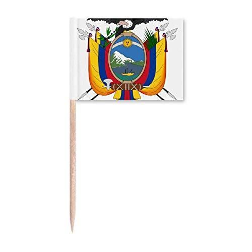 Quito Ecuador National Emblem Zahnstocher Flaggen Marker Topper Party Dekoration
