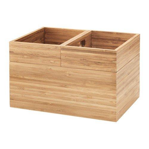 IKEA DRAGAN Boxen Set aus Bambus; 3tlg; (23x17x14cm)