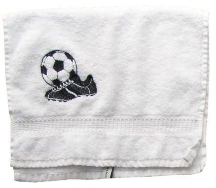 Handdoek met borduurwerk voetbal