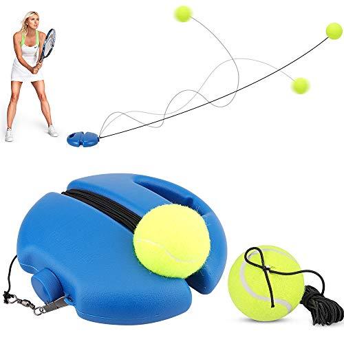 Eyscoco Tennis Trainer,Tennistrainer Set,Solotraining Tennis Übungsausrüstung zum Selbststudium,Tennis Rebounder mit 2 Rebound Bällen,Tennis Trainingsgerät Tool für Anfänger Erwachsener Kinder