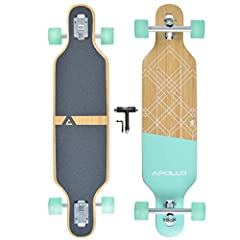 """🤙 SURF THE STREETS: Got the urge to go surfing, but you're surrounded by cold, hard concrete? You don't need waves to soak up that surfing feeling...just grab an Apollo longboard and """"hang ten"""" with wheels! 🛹 PREMIUM GRADE MATERIALS: Length: 36"""" Widt..."""