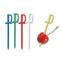 Plastic Swords Picks Party Accessory