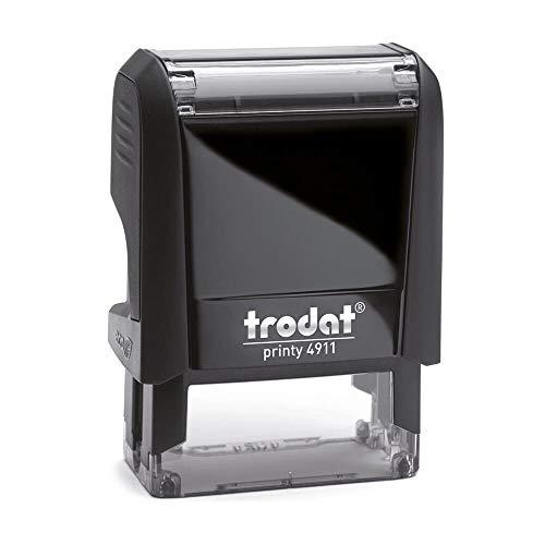 Stempel Trodat Printy 4911 custom (37x14 mm - 4 Zeilen) mit individueller Textplatte Farbe Schwarz