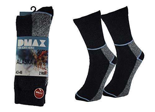 DMAX Alaska Thermosocken für echte Kerle - 4|6|12 Paar - wahlweise in Schwarz, Anthrazit, Blau und drei Größen 39-42/43-46/47-50 (39-42, 4 Paar Anthrazit)