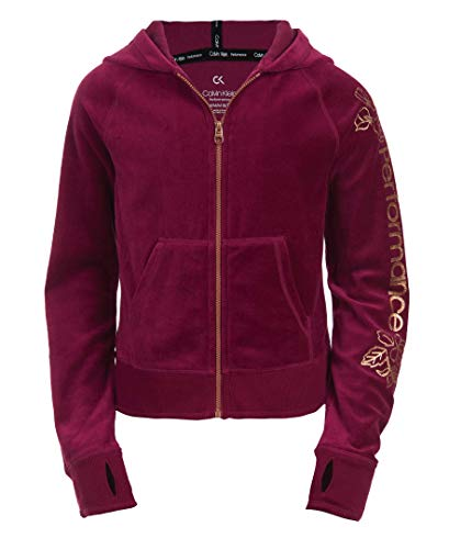 Calvin Klein Big Girls' Performance Hoodie, True Berry, L12/14