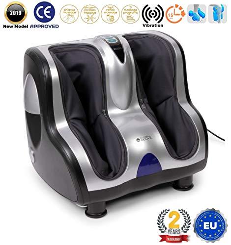 VITALZEN Masajeador de pies y piernas (nuevo modelo 2018) – 3 sistemas de masaje: vibroterapia, reflexología y compresión/aire – 3 niveles intensidad - Garantía Oficial 2 AÑOS de GLOBAL RELAX® España