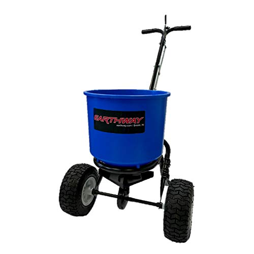 Earthway 2600A-PLUS-BC 40 Lb Capacity Medium Duty Commercial Garden Farm Lawn Automatic Seed Fertilizer Drop Spreader, Blue