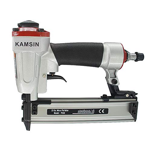 KAMSIN P630 Micro Pneumatic Pin Nail Gun- 23 Gauge 1/2-Inch to 1-3/16-Inch, Handy Air Headless Pinner Nailer, Tool for Cabinet Trim, Crafts and Other Woodworking Projects