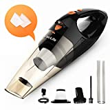 VacLife Handheld Vacuum, Hand Vacuum Cordless Rechargeable, Small and Portable with High Power and Quick Charge for Home and Car Cleaning, Black & Orange