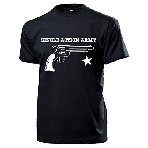 Single Action Army Revolver Pistola USA America 1873 SAA Cowboy T Shirt #17629 Nero XXXXXL