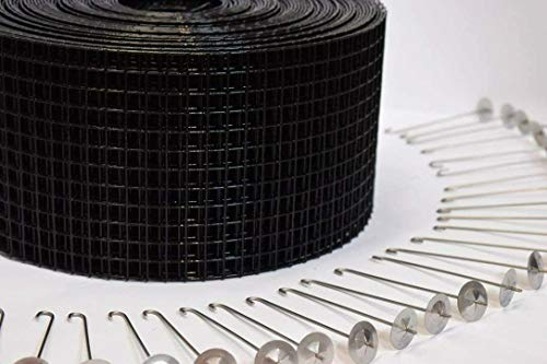Solar Panel Bird & Critter Guard Kit – 4 in. x 100ft Roll Wire Mesh & 50 Stainless Steel Clips - Heyco Products