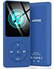 AGPTEK 8GB A02 MP3 Player 70 Hours Playback Lossless Sound Music Player Supports up to 128GB Dark Blue Multifunctional Sports MP3 Player for Indoor Outdoor
