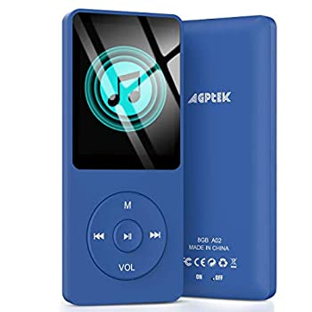AGPTEK A02 8GB MP3 Player 70 Hours Playback Lossless Sound Music Player Supports up to 128GB Dark Blue
