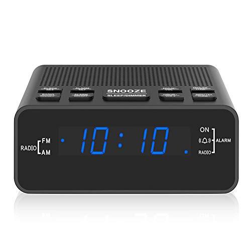 Alarm Clock Radio, Digital Alarm Clock with AM/FM Radio for Bedrooms