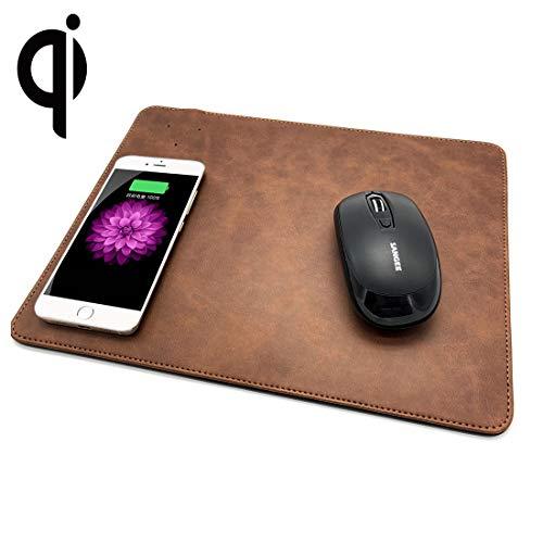 Goede 5 V, 1 A, multifunctionele muismat, draadloze oplader Qi, compatibel met standaard Qi-telefoons, afmetingen: 310 x 230 x 5 mm, voor iPhone, Galaxy, Huawei, Xiaomi, LG, HTC en andere Blue