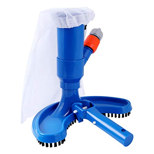 Bearbro Swimming Pool Vacuum Cleaner Kit, Pool Vacuum Heads Underwater Vacuum Brush Cleaner Portable Cleaning Tool for Above Ground Pools, Spas, Ponds & Fountains