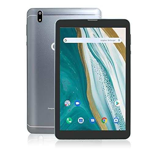 Tablette Android 10 de 8 Pouces avec écran Full HD, processeur Octa-Core, RAM 3 Go, ROM 32 Go, Deux Haut-parleurs stéréo, 5100 mAh (Argent)