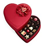 Godiva Chocolatier Valentine's Fabric Heart Assorted Chocolate Gift Box, 25-Ct.