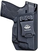 M&P Shield 9mm Holster, Kydex IWB Holster for Smith & Wesson M&P Shield 9mm .40 M2.0 S&W with Integrated Laser, Inside Waistband Carry Concealed Holster M&P Shield 9mm with Laser, Black, Right Hand