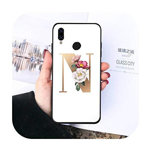Cartas flores arte teléfono caso para Huawei Honor 7C 7A 8X 8A 9 10 10i Lite 20 NOVA 3i 3e-a2-Huawei Honor 20