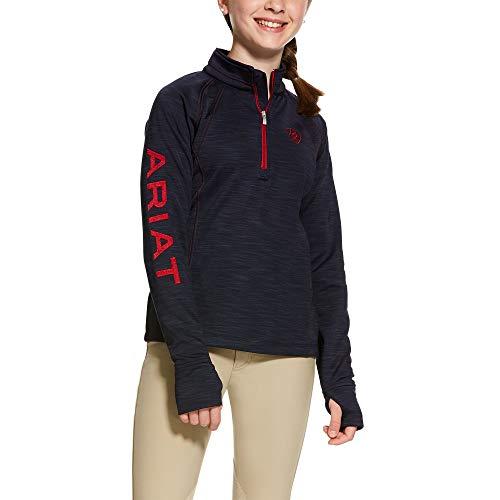 ARIAT Kid's Tek Team 1/2 Zip Sweatshirt Navy Size Small